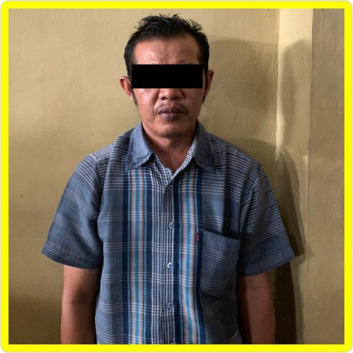 Foto pelaku FY alias Asep (40) warga Rambah Tengah Utara, Kecamatan Rambah