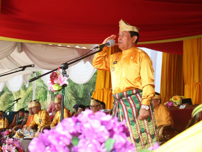 Bupati Rohul H Sukiman Jadi Inspektur Upacara peringatan Hari Jadi ke 20 Kabupaten Rohul